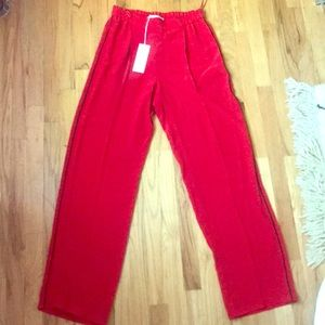 Stella McCartney red silk pant - size 40